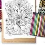 Lioness Coloring Page Printable