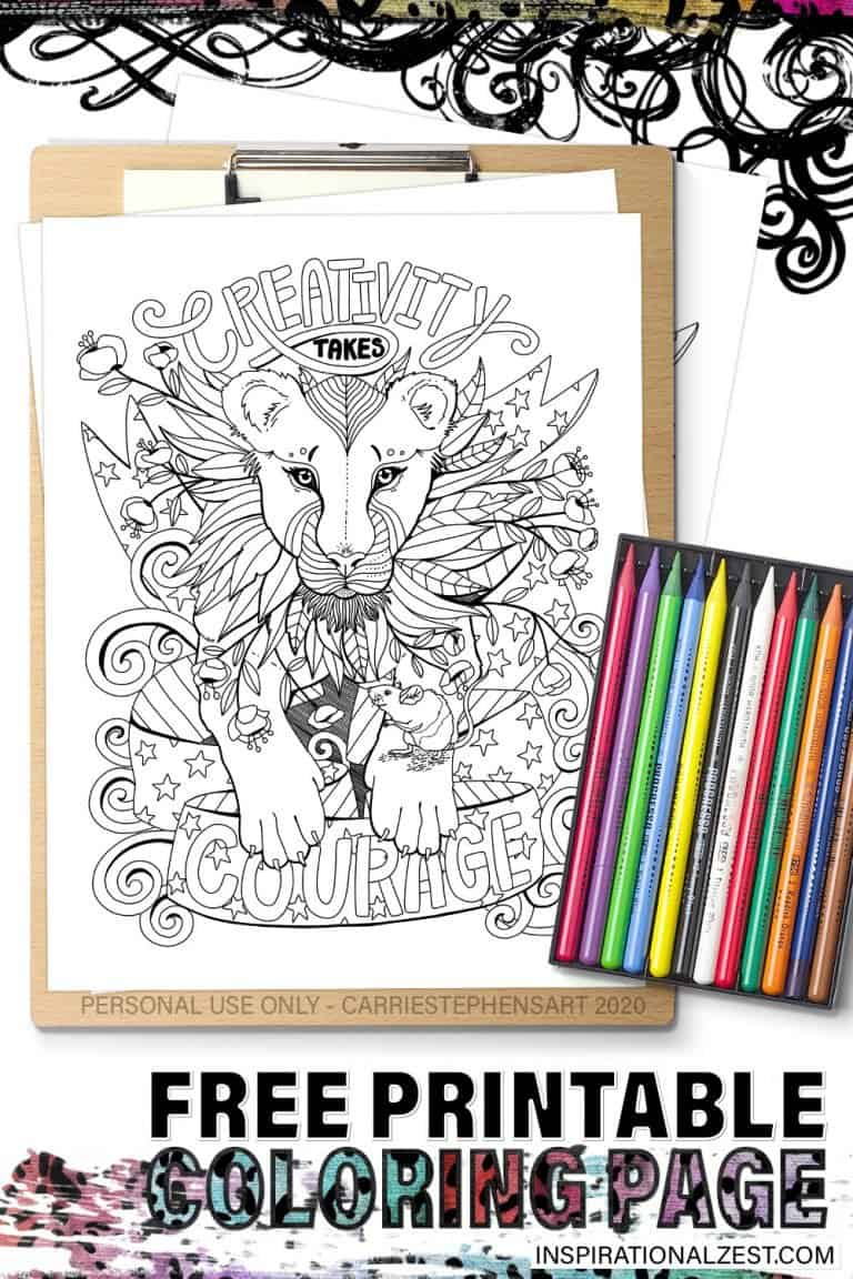 Lioness Coloring Page, Printable
