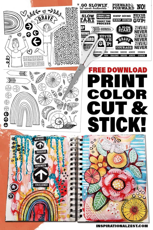 Free Printable Die Cut Stickers | Moving Forward
