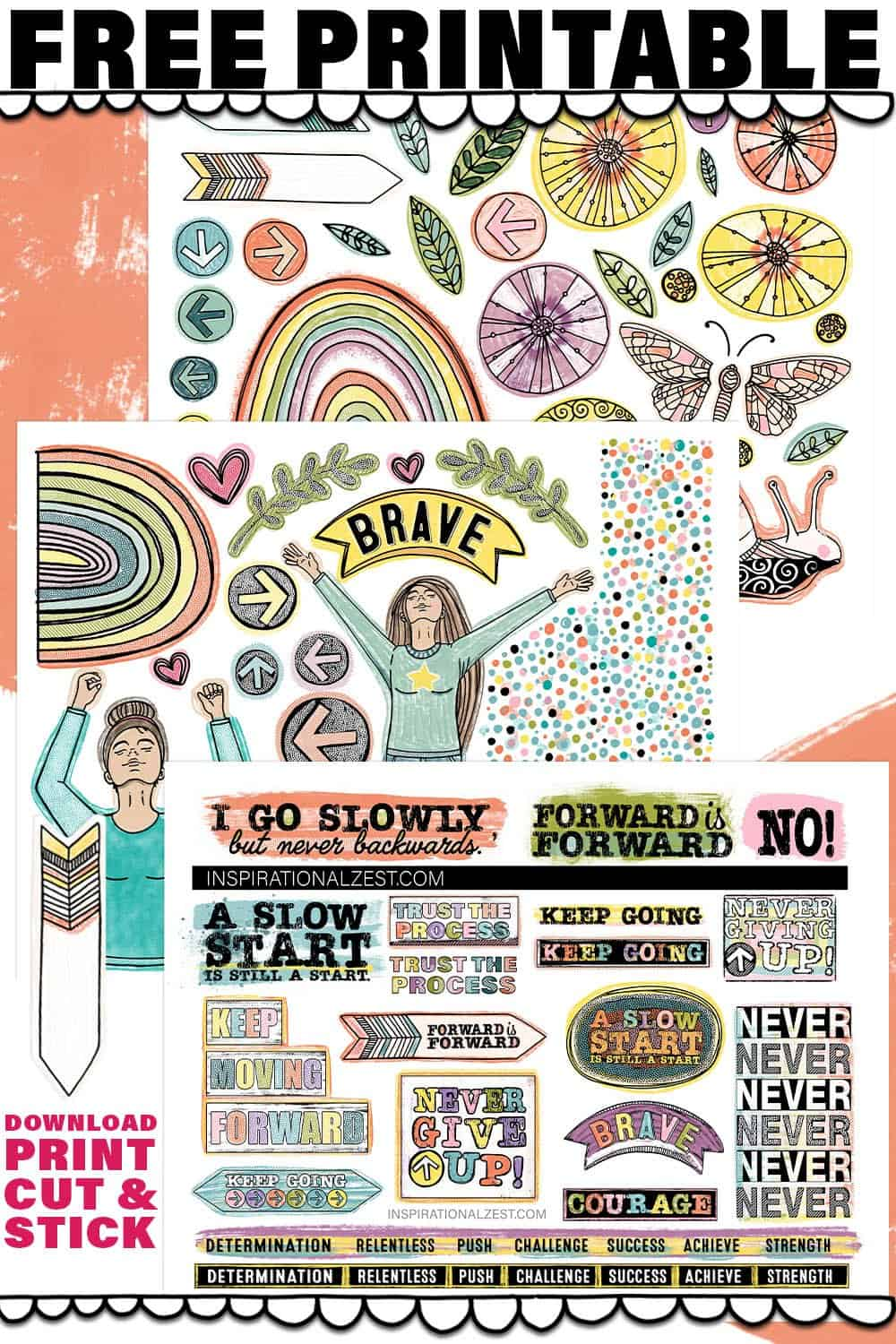Free Printable Collage Sheets | Move Forward Color