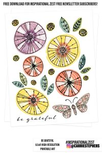 Free Be Grateful Wall Art Printable Download