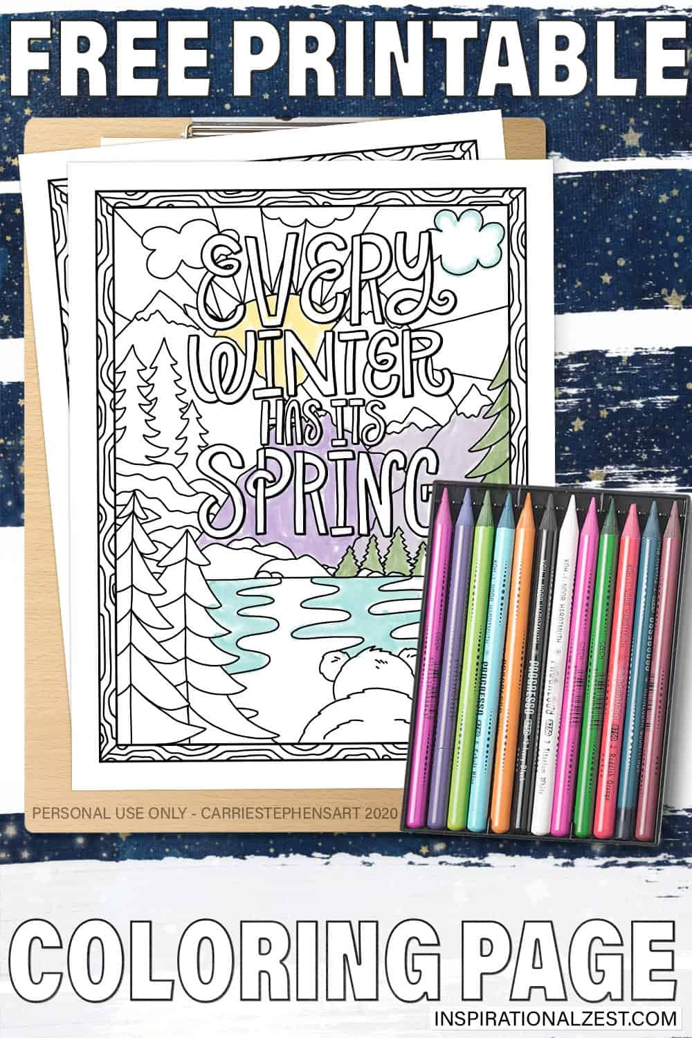 Every Winter Has its Spring | Free Coloring Page Printable