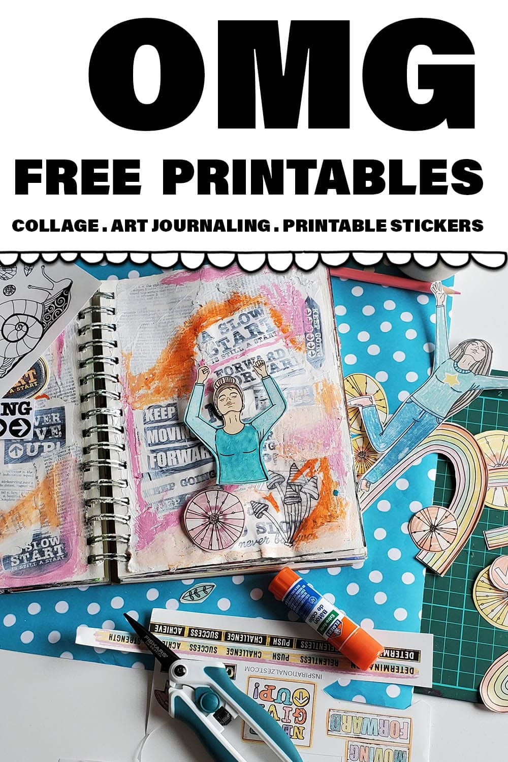 10 Benefits of Using Printable Collage Sheets In Your Art Journal