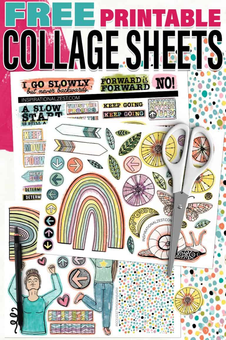 A set of 3 printable collage sheets