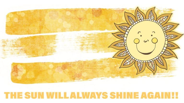 The Sun will always shine again, inspirational quote image
