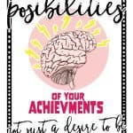 Inspirational Quote Image with paint and brain, creative growth mindset encouragement