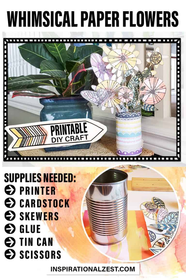 Supplies needed for the paper flowers craft