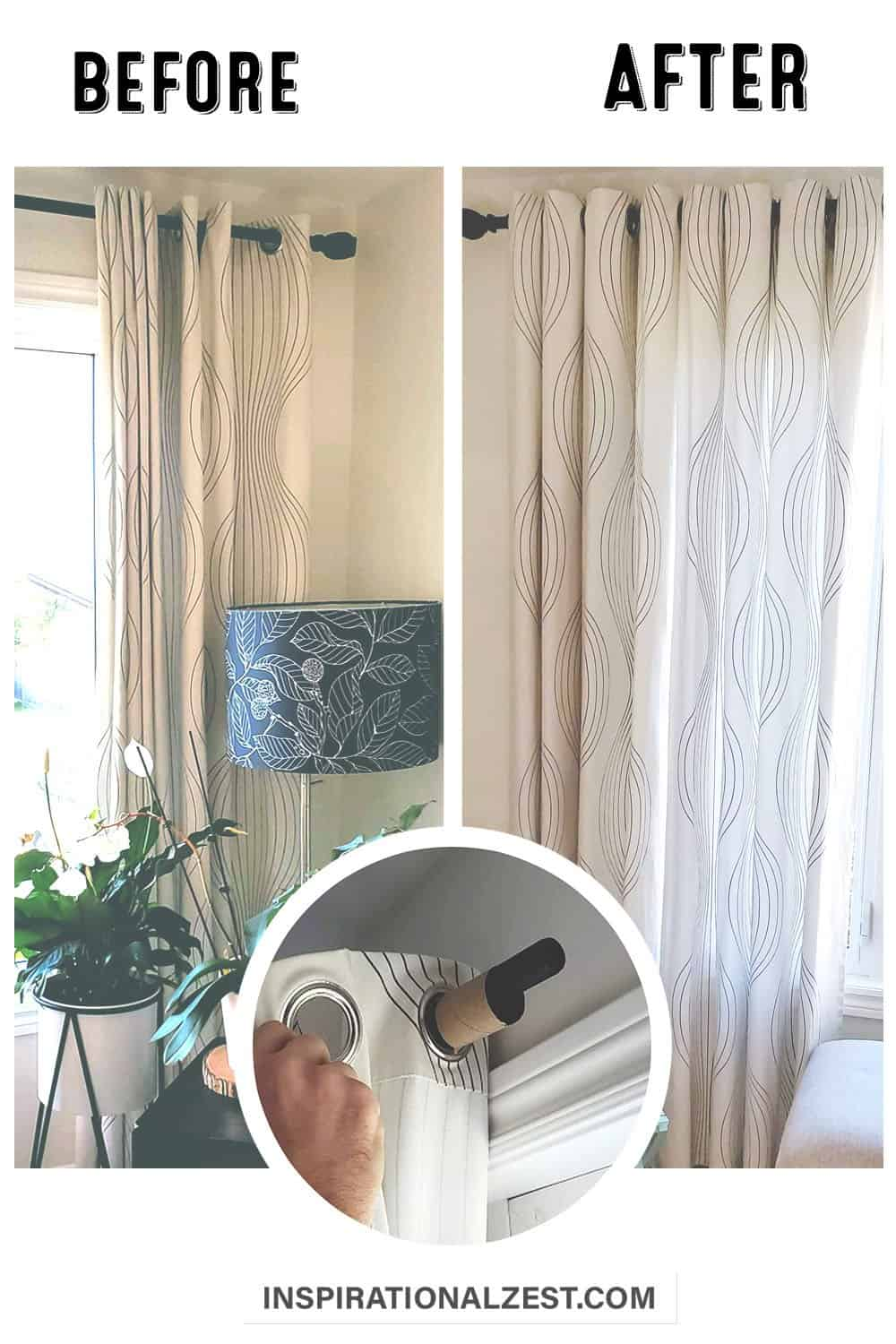 The PERFECT Waved Eyelet Curtains | DIY Window Treatment Update