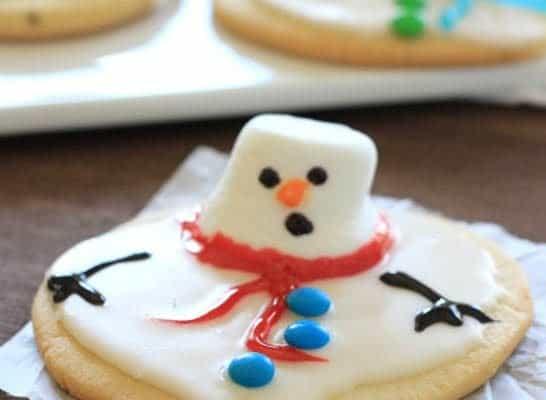 Melting Snowman Cookie
