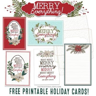 Printable Christmas Cards | Merry Everything!