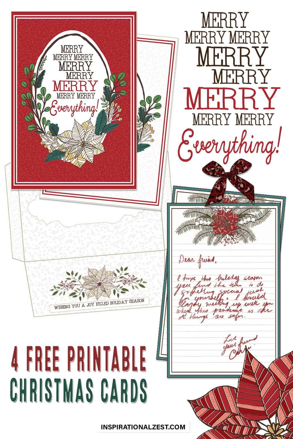 Printable Christmas Cards | Merry Everything!