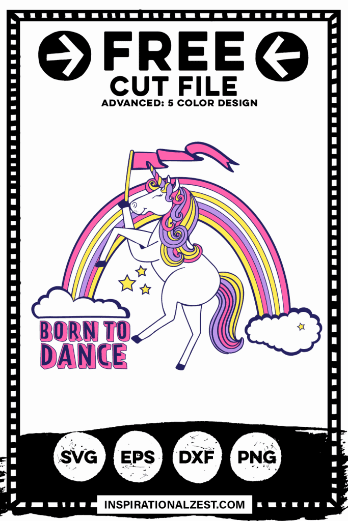 Dancing Rainbow Unicorn Image svg