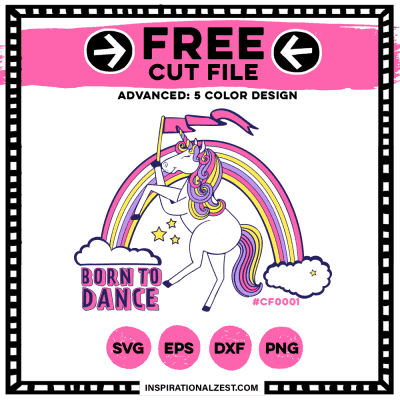 Free Unicorn SVG Files | Born to Dance