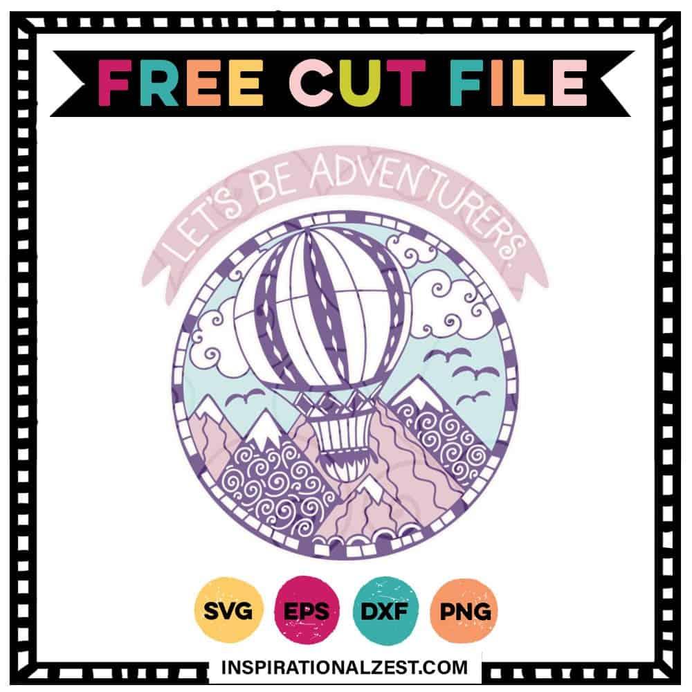 Hot Air Balloon FREE SVG Cut File