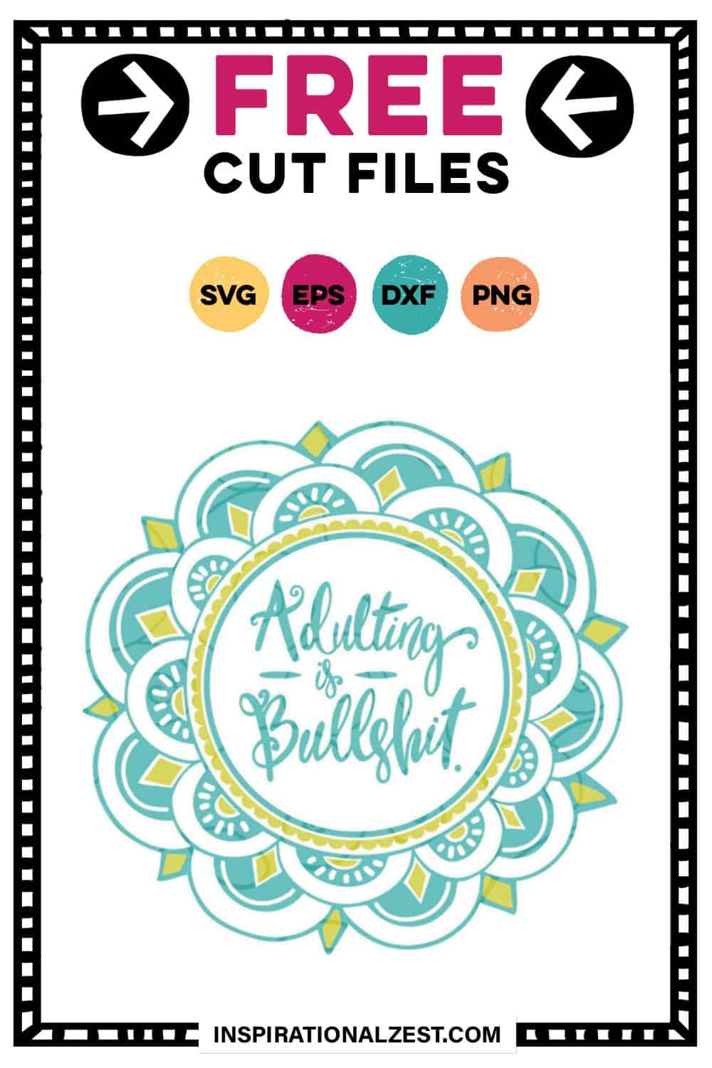 Adulting is Bullshit! | FUNNY SVG Cut file for Millennials