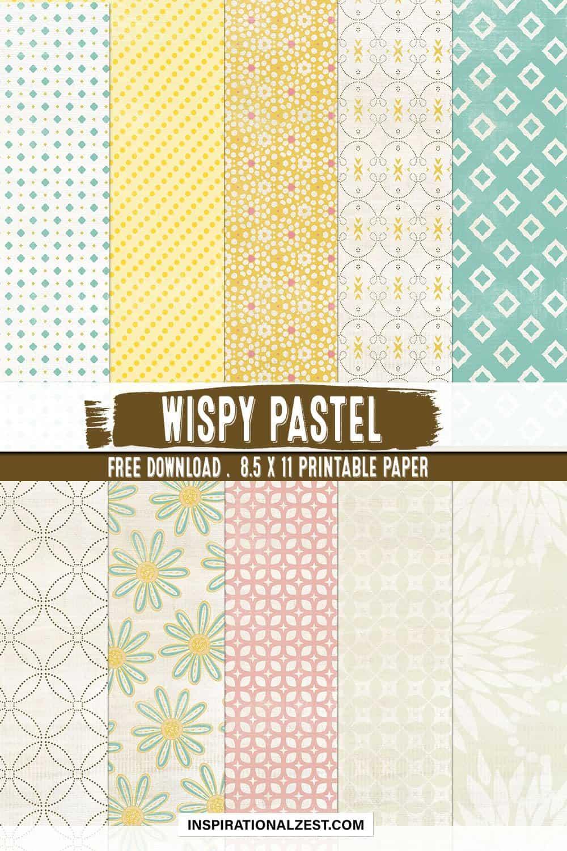 Floral Pastel 8.5 x 11 Free Printable Paper