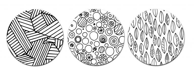 Decorative Circles for Doodle Patterns