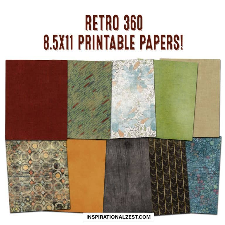 8.5x11 patterned papers to download w/ retro patterns and colors