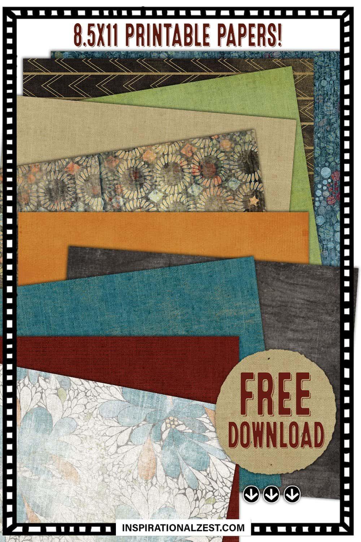 Retro FREE Printable Decorative Paper