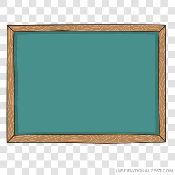 Green Chalkboard Slate Transparent PNG ClipArt Image.