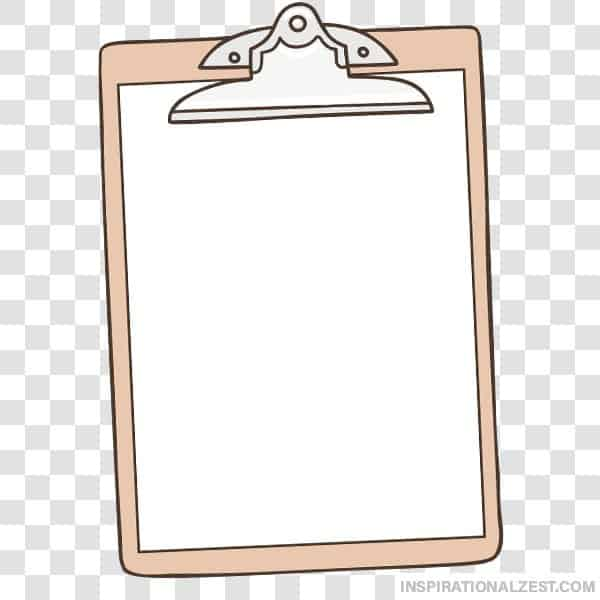 ClipBoard with Blank Paper Transparent PNG ClipArt Image.