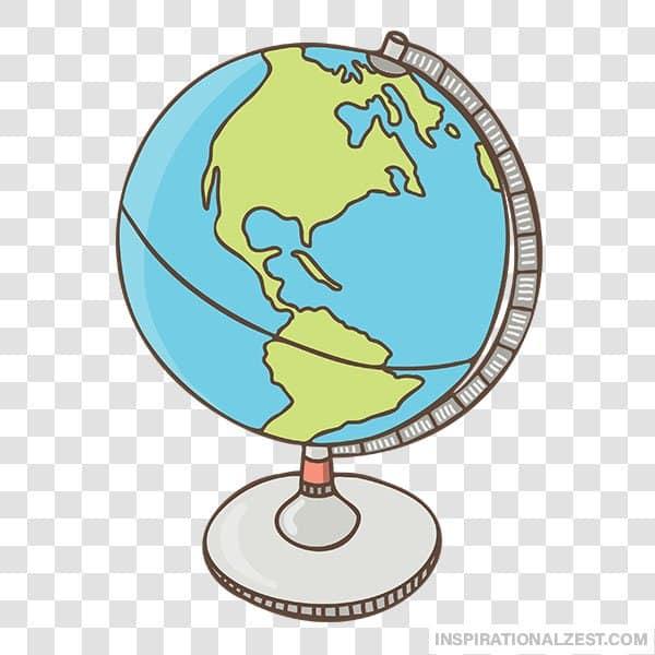 World Globe Transparent PNG ClipArt Image.