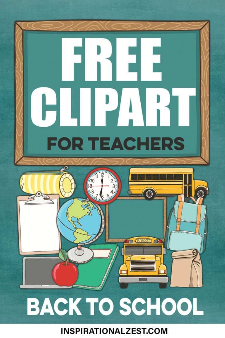 A preview image of Back-to-School ClipArt. A set of 15 Free ClipArt images to download.  Transparent PNG images include A globe, School Bus, Classroom Clock, Backpack, Brown paper Lunch Bag, Apple, Chalkboard and Clipboards!