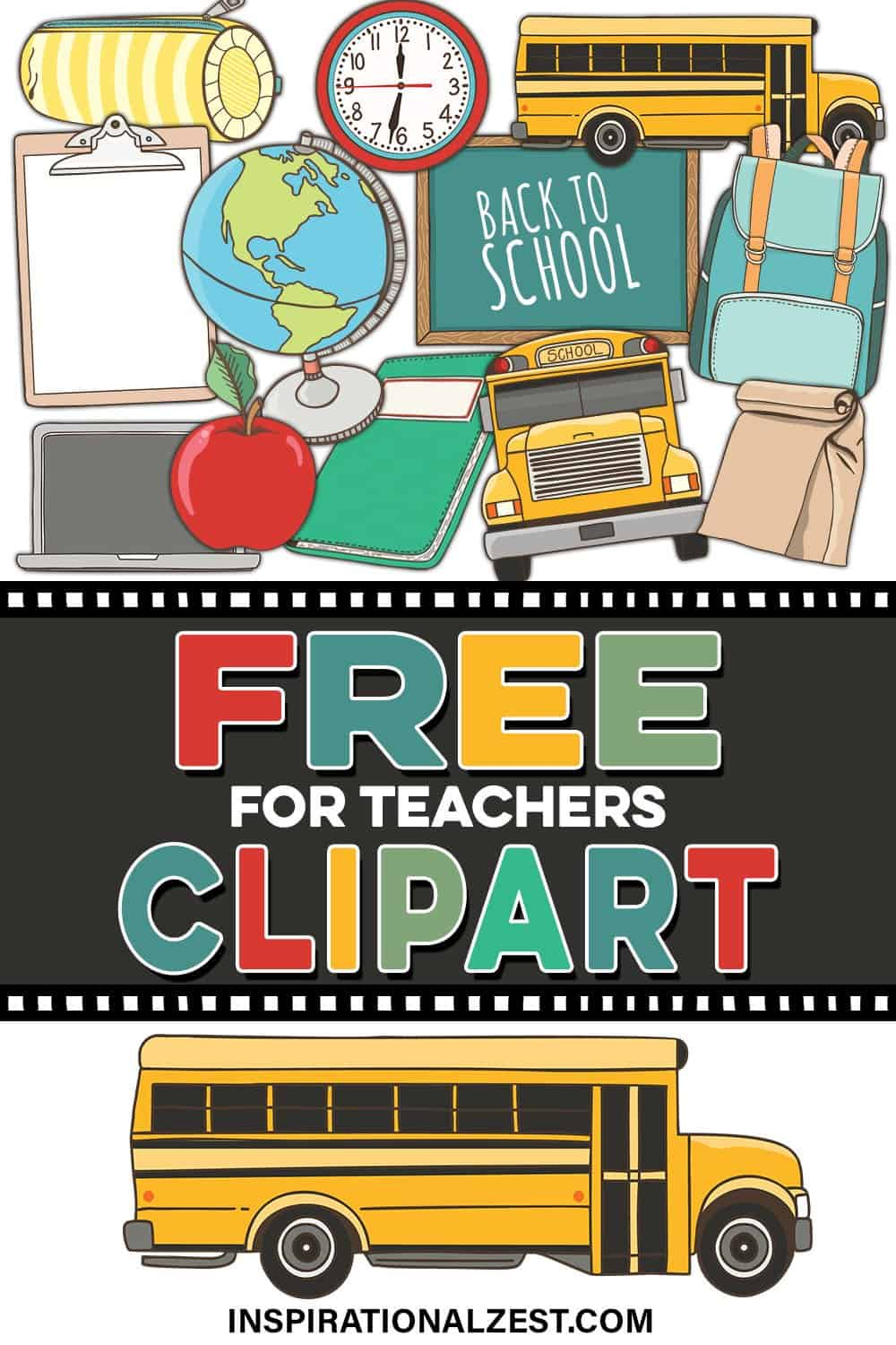 Back to School FREE ClipArt for Teachers | PNG