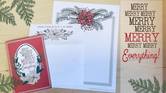 Printed and Folded Holiday Card Set